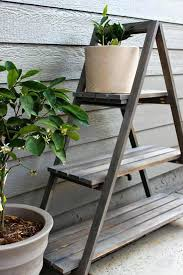 diy outdoor plant stand builders showcase chic little house a frame plant stand diy outdoor plant