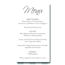 Basic Menu Template Free Menu Templates For Word Awesome Ms