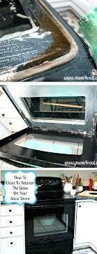 clean inside glass oven door how
