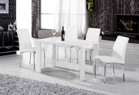 full size of bathroom lovely white gloss table and chairs 4 high dining fresh with images