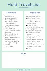 International Travel Packing Checklist Packing Trip List Magdalene Project Org