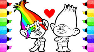 You can use our amazing online tool to color and edit the following trolls coloring pages. Trolls Poppy Coloring Pages How To Draw And Color Dreamworks Trolls Poppy And Branch Coloring Book Youtube