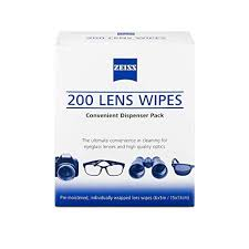 <b>Zeiss Pre-Moistened Lens Cleaning</b> Wipes - Cleans Bacteria, Germs ...