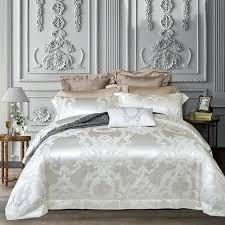 silk duvet cover king size luxury white comforter bedding set and cotton bed sets jacquard satin dupioni silk duvet cover