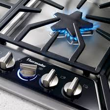 thermador 30 gas cooktop. illuminated control panel with metal knobs thermador 30 gas cooktop