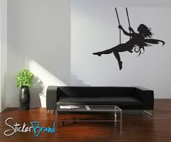 fairy wall decals vinyl wall decal sticker fairy on swing acs