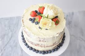 Low Fodmap Naked Cake With Lemon And Blueberries Gluten Free