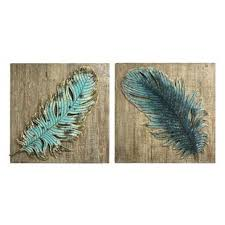 2 piece embossed metal feather wall d cor set on feather heart metal wall art with feather wall decor wayfair