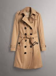 burberry womens sandringham fit cashmere trench coat camel