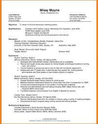 Preschool Resume Objective Science Teacherme Objective Free Templates Unusual Teaching 7