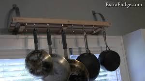 ealing kitchen diy hanging pot rack cooks standard wall mount