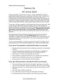 black belt essay taranaki itf taekwondo art vs sport taranaki itf taekwondo