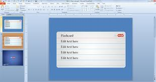 Flashcards Template For Powerpoint Free Flash Card Powerpoint