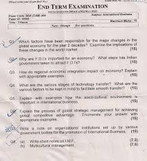 i p university question papers by avinash  international business