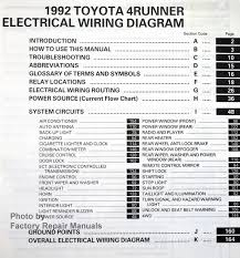 1992 toyota pickup wiring diagram 1992 image 1992 toyota 4runner electrical wiring diagrams original factory on 1992 toyota pickup wiring diagram