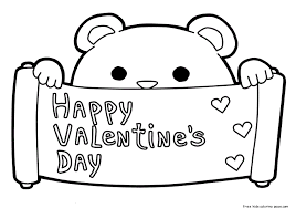 Small Picture Printable happy Valentines Day coloring pages februar 14Free