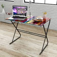 Buy best colorful <b>Glass Desk with Rainbow</b> Pattern from LovDock ...