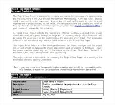 Project Final Report Template Project Report Template