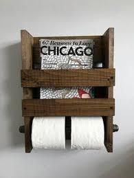 Toilet Paper Holder With Magazine Rack Magazine rack Rustic magazine holder Magazine holder Wood 89