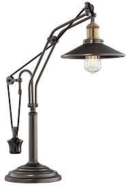 adjustable desk lamp. Franklin Iron Works Emile Oiled Rubbed Bronze Metal Desk Lamp - Amazon.com Adjustable