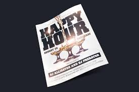 Happy Hour Flyer Free Happy Hour Flyer In Psd Free Psd Templates