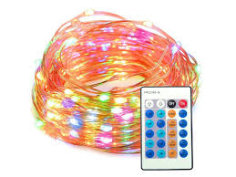 taotronics home and lighting taotronics led string lights 33 ft copper wire 100 leds multicolor dimmable waterproof decorative lights