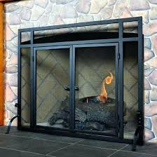 gas fireplace doors black wrought iron gas fireplace doors decorative firebox insert log gas fireplace glass