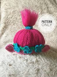 Trolls Crochet Hat Pattern Inspiration Crochet Poppy Pattern Poppy Inspired Troll Hat Pattern Troll Etsy