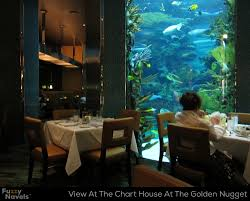 Looking At Aquarium From Dining Table At Chart House In Las