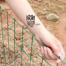 2019 новый милый сова шаблон временная татуировка стикер водостойкие переводные