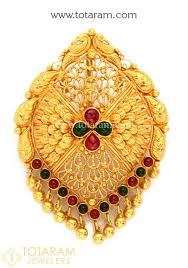 22k gold peacock pendant temple jewellery 235 gp3210