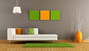 Orange Wall Paint Living Room Bright Orange Wall Paint For Simple Bedroom Design With Modern Low
