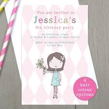 Personalised Girls Birthday Party Invitations