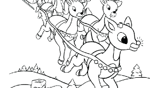 Santa Claus Sleigh And Reindeer Coloring Page Sheets Awesome S Pages