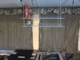 popup camper mod shelves