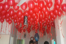 birthday room decoration ideas with red balloons