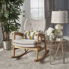 contemporary furniture for living room. Bethany Mid Century Fabric Rocking Chair (Wheat) Contemporary Furniture For Living Room