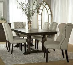 sierra tufted cream linen dining chair wingback chairs with arms red dining room idea according to chairs