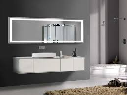 70 x 32 in horizontal led bathroom silvered mirror with touch on from modern bathroom vanity