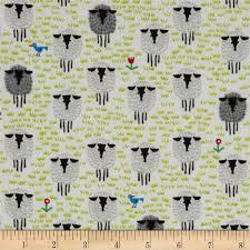 Organic Cotton Quilting Fabrics - Discount Designer Fabric ... & Cloud 9 Happy Drawing Too Organic Sheep White Adamdwight.com