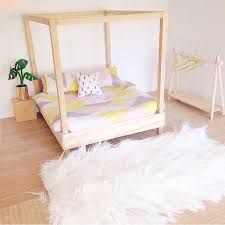 diy doll furniture. clothes solution for closetless bedroom dollshouse four poster bed modern miniatures furniture scale dollhouse diy doll r