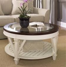 white cottage style wooden ikea round coffee table designs ideas for living room decoration