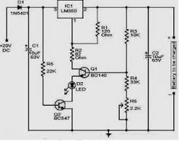 lm350 12 volt battery charger electronic circuit charger 12v/100ah battery charger circuit at 12 Volts Battery Charger Circuit Diagram