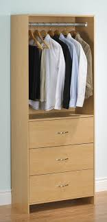 Closet Tower With Drawers Homestar 3 Drawer Closet Organizer With Rod By Oj Commerce