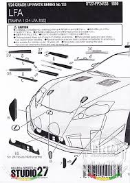 studio27 photo etched parts for 1 24 lexus lfa for tamiya kit click to enlarge