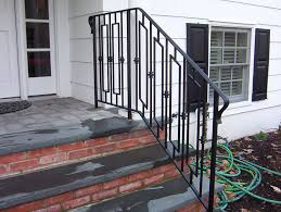 concrete steps stair railing design