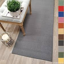 custom size grey solid plain rubber backed non slip hallway stair runner rug carpet 22 inch wide choose your length 22in x 6ft b01jypa4pm