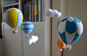 felt hot air balloon mobile koto