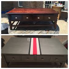 before and after ohio state man cave coffee table found table