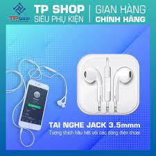 Tai nghe Iphone hàng đẹp âm thanh tốt bass căng thích hợp cho Iphone  5,5s,6, 6s,6splus thiết kế êm tai thích hợp đeo lâu - Tai nghe có dây nhét  tai